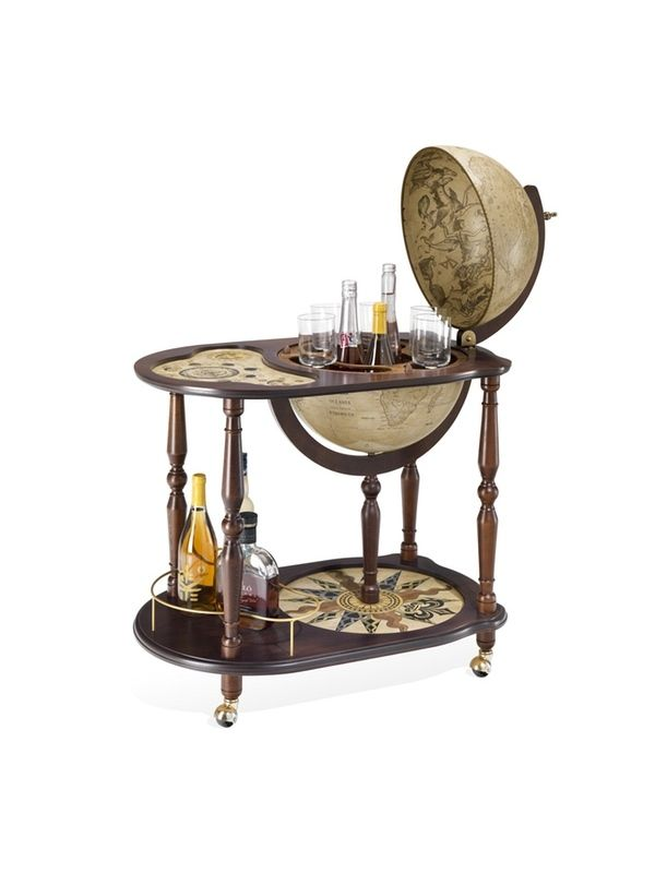 Globe Drinks Cabinet Antiqua Serving Tray - 21 Best Bar Globes On Wheels Images On Pinterest Globe Bar, Globes