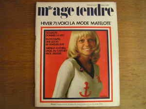 Mademoiselle Age Tendre Novembre 1971 N°84 FRANCE GALL