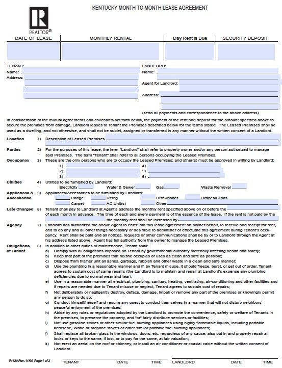 Printable Sample Roommate Agreement Template Form