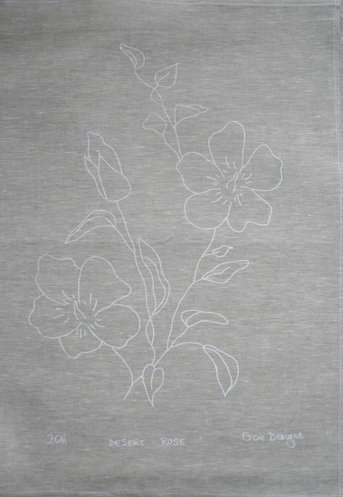Linen Screenprinted Tea Towel -  100% Linen tea towel screen printed with Australian Botanical flowers. Beautiful to use or beautiful to give. Living with luxury everyday.