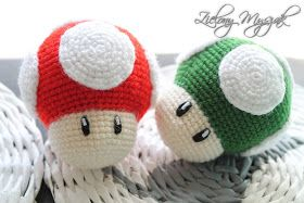#mario #1up #mushroom #amigurumi #crochet #nintendo
