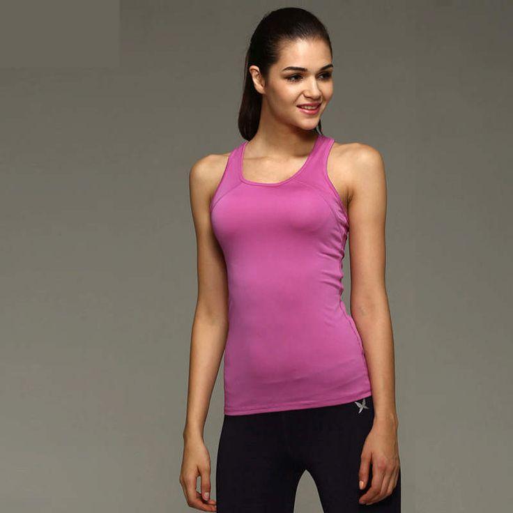 Women Running Tank Tops Girl Yoga T Shirt Female Workout Sportswear Training…