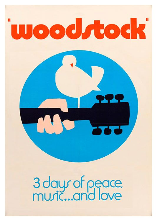 Woodstock Poster, available at 45x32cm.This poster is printed on matt coated 350 gram paper.