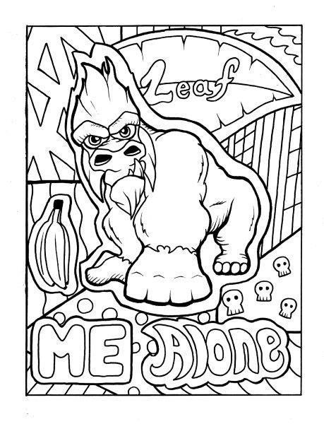 gorilla adult coloring page swear get 14 free printable coloring pages visit swearstressawaycom to download and print 14 swear word coloring pages - Swear Word Coloring Pages Printable Free