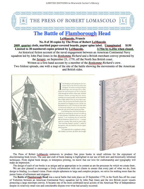 The Battle of Flamborough Head - The Press of Robert LoMascolo