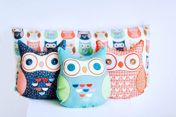 Cushions set hand made by Kinderly - Daphne cushions set - Owl shaped