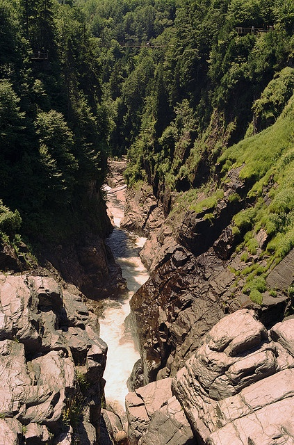 Over Gorge Charlevoix Quebec Canada -...