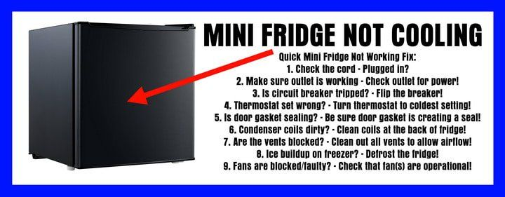Mini Fridge Stopped Cooling Refrigerator Not Cool Best
