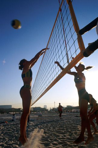 beach volley au féminin