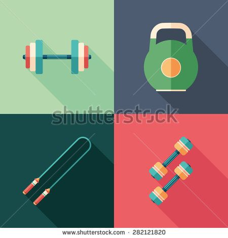 Single sports flat square icons with long shadows. #sport #sporticons #flaticons #vectoricons #flatdesign