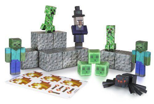 Feindliche Mobs Minecraft 16703 Papierset zum Selberbasteln 30 Teile
