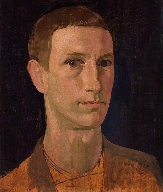 Henry Lamb (Australia 1883-1960 England), Self-Portrait, oil on panel, 1914. National Portrait Gallery, London