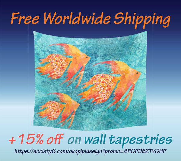 FREE WORLDWIDE SHIPPING ON EVERYTHING + 15% OFF ON WALL TAPESTRIES