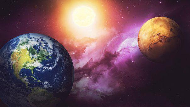 Tila, Galaksit, Mars, Tähteä, Terra