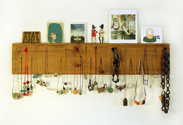 9.17 necklace display by robayre, via Flickr: Diy'S Furniture, Diy'S Idea, Diy'S Necklaces, Jewelry Display, Display Idea, Wall Decoration, Crafty Idea, Decoration Diy'S, Necklaces Display