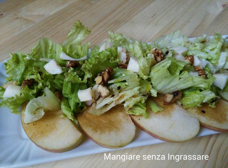 Insalata+verde+con+mele+e+aceto+balsamico