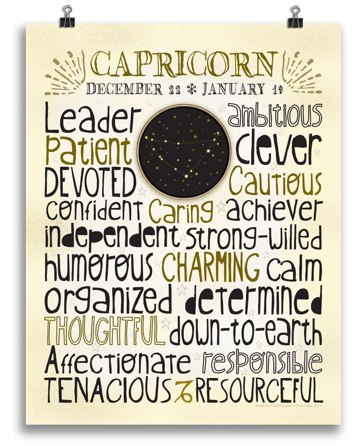 Capricorn • Zodiac Print - Anne Garrison Studio