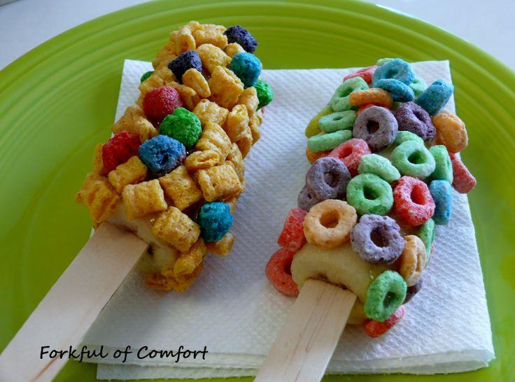 Forkful of Comfort: Frozen Banana Pops   Cool Ideas For Kids!   Pinte ...