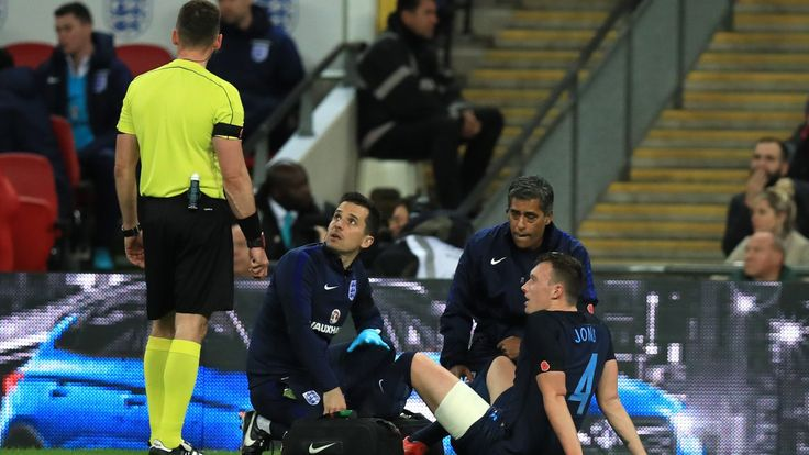 Jose Mourinho unhappy with England's treatment of injured Phil Jones #News #England #Football #JoseMourinho #ManUtd