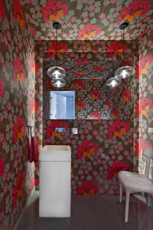 great bathroom wallpaper pattern