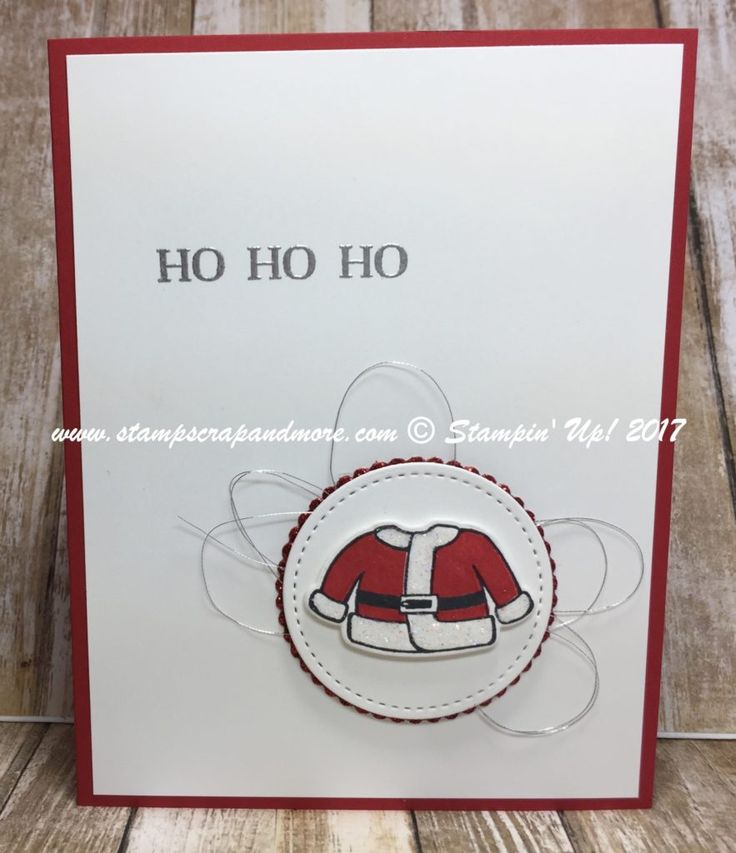 Santa 39 s suit bundle from stampin 39 up 2017 holiday catalog for Santa cards pinterest