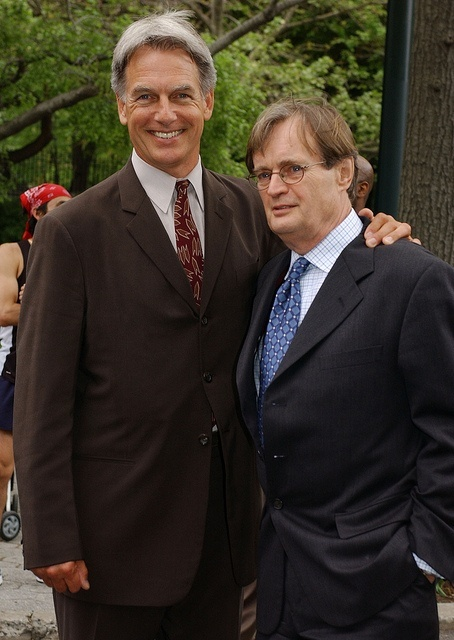 An old crush with an even older crush ~ Mark Harmon and David McCallum