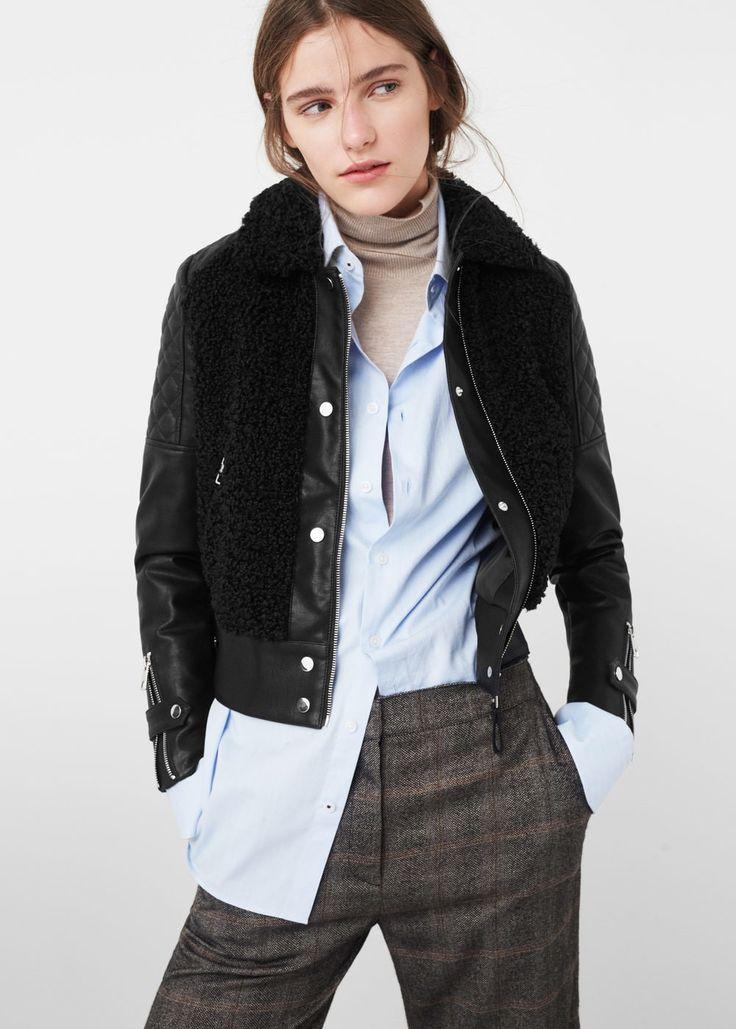 Faux shearling jacket -  Woman | MANGO United Kingdom