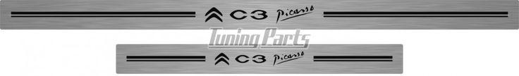 Soleira de Porta C3 Picasso em Aço Inox Escovado