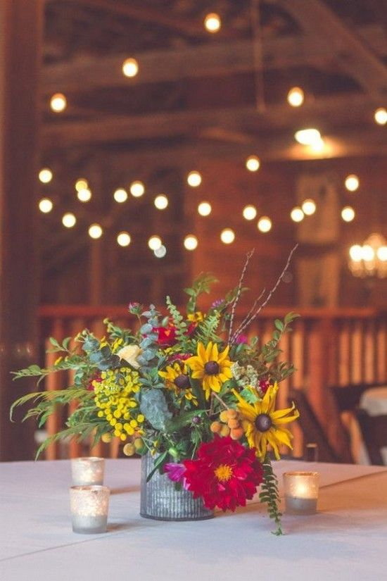 17 Best ideas about Barn Wedding Centerpieces on Pinterest