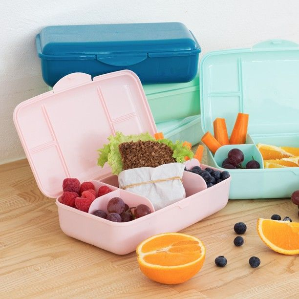 Always remember to eat a healthy and filling lunch Clara says.  #lunchbox #lunch #food #container #school #backtoschool #inspiration #sostrenegrene #søstrenegrene