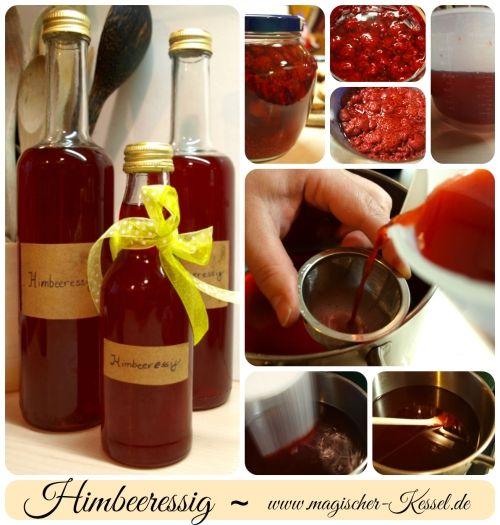 Wie man Himbeeressig selber macht / Making strawberry vinegar