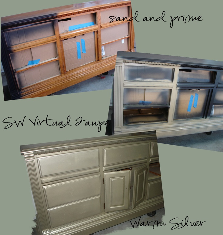 Great Paint For Great Homes: Nursery Furniture Painted Silver