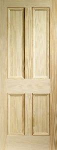 Vertical Grain Pine 4 Panel Internal Door