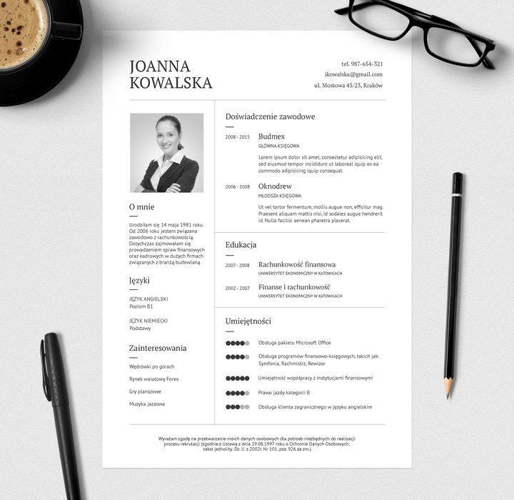 Printable Resume | Wzór CV do pobrania