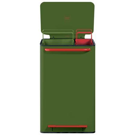 Perigot Mobil Bin 65L Green With 2 Bucket Green & Red Inner