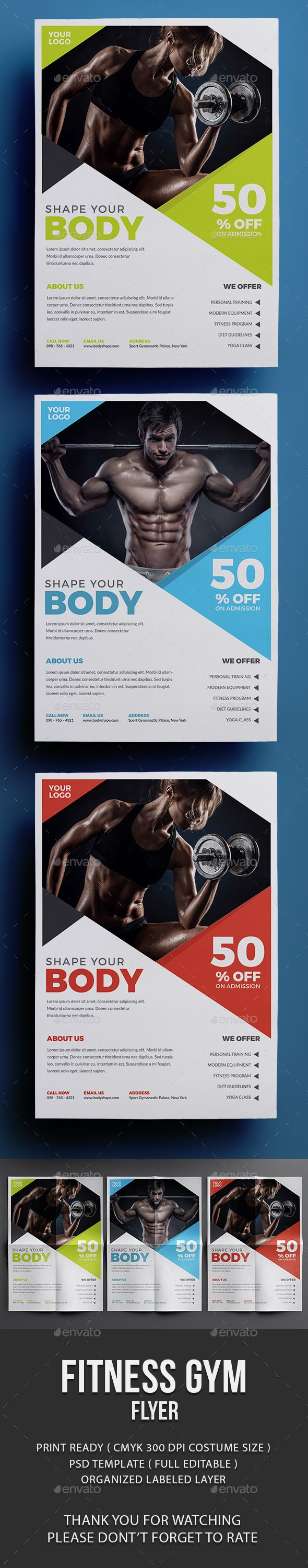 Fitness Flyer Design - Events Flyer Template PSD. Download here: graphicriver.ne...