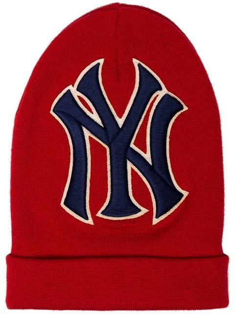 6726c208e17 Gucci Red NY Yankees Embroidered Wool Hat - Farfetch