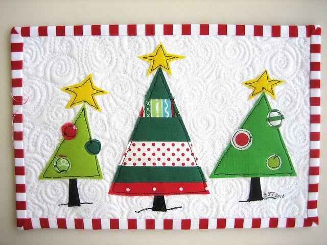 Holiday Mug Rug | Well partner, whatcha think??? | Carol | Flickr                                                                                                                                                                                 More
