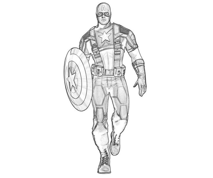 Capitan America Para Colorear: Captain America Coloring Pages Games #05