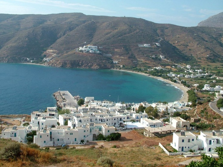 The sea port in the fishing town of Amorgos