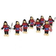 Medieval Red Knight Dolls