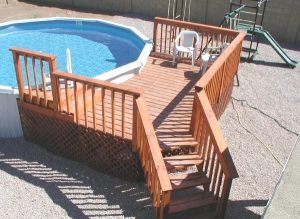 above ground pool and wood pool deck pool deck pinterest ground pools decking and woods