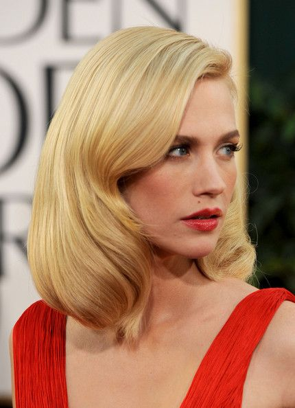 January Jones' blowout.