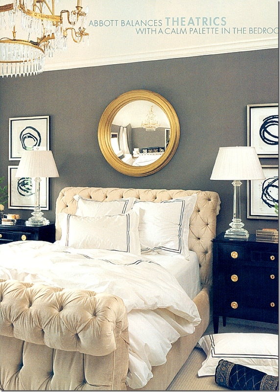 Color Scheme Wallcolor Touch Of Black Hint Of Gilt Balanced With Cream