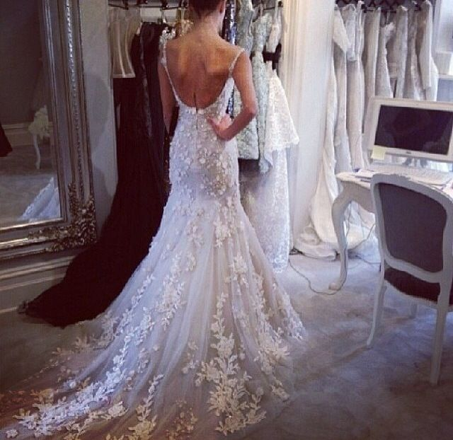 New Amazing back wedding dress Marriage Stuff