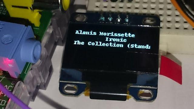 RaspberryPi - Volumio - OLED Display (0 96
