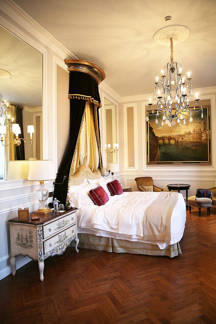 St Regis Hotel, Florence, Italy. Master Bedroom. Exclusive Design. Luxury Hotels. European hotels. For more inspirational ideas take a look at: www.bocadolobo.com
