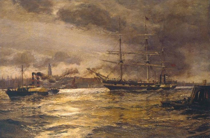 London River - 1904 Charles Napier Hemy