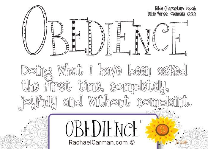Character Quality Obedience Bible Lessons For Kids Bible Study