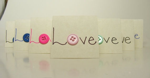 """Showing some """"button love!"""" #buttons #handmade #cards"""